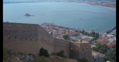 Golfo Argólico o de Nauplia desde castillo Palamidi