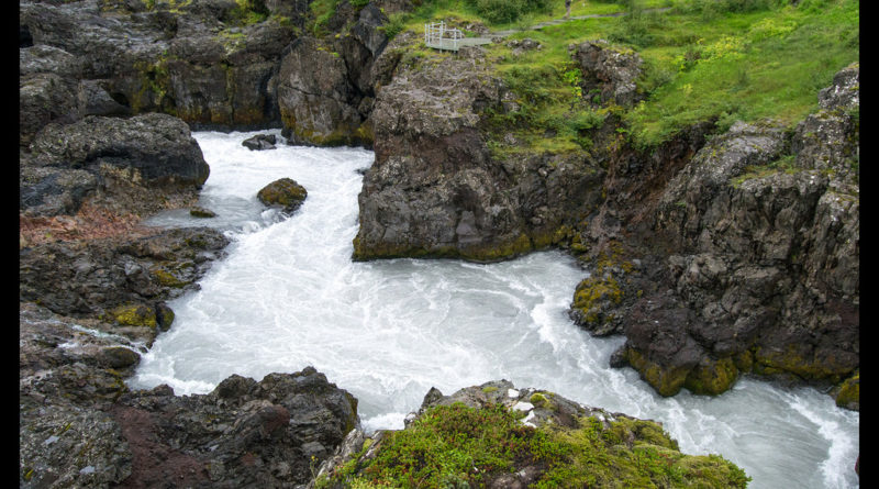 Los rápidos de Barnafoss, la cascada de los niños