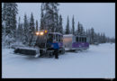 Excursión en tren de nieve a la mina de amatistas Lampivaara