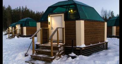 Dormir en un iglú de cristal en Laponia