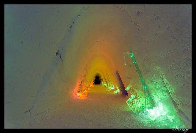 Iglú de hielo en Laponia